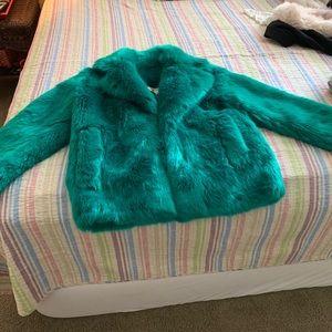 Diane Von Furstenberg faux fur collared jacket